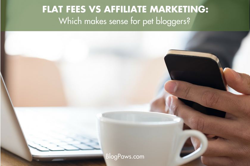 Flat fees vs. affiliate marketing- Which should bloggers choose | BlogPaws.com