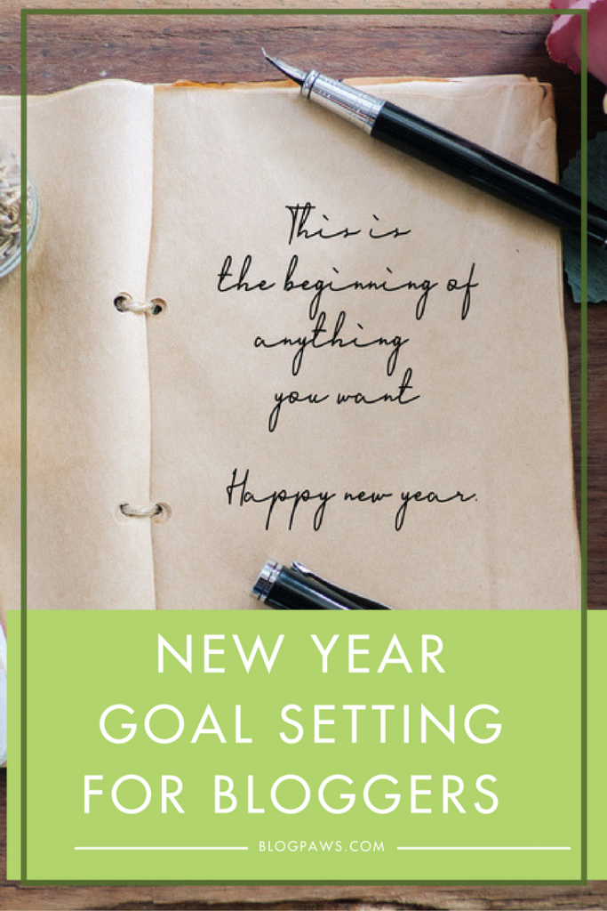New Year Goals for bloggers