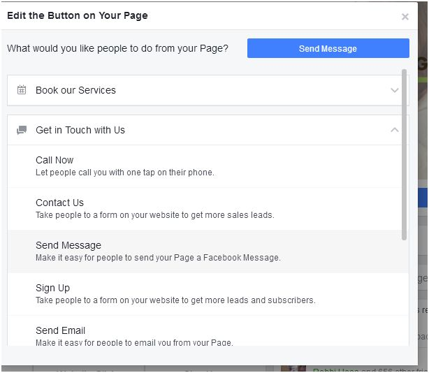 CTA actions Facebook for bloggers