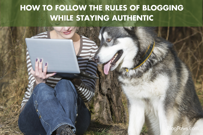 How to Follow the Rules of Blogging While Staying Authentic | BlogPaws.com