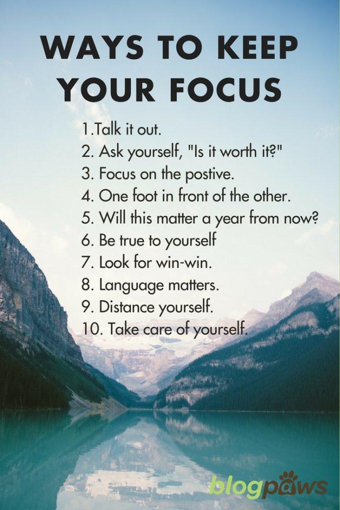 10 ways to keep focus