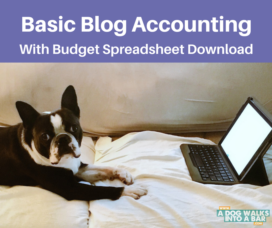 Basic Blog Accounting with Budget Spreadsheet Download