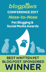 Best Written Pet Blog Post - Sponsored - badge
