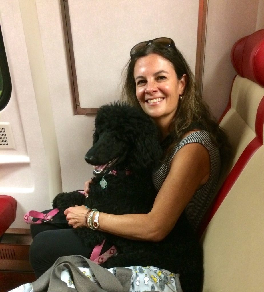 Lisa and Minnie on the train