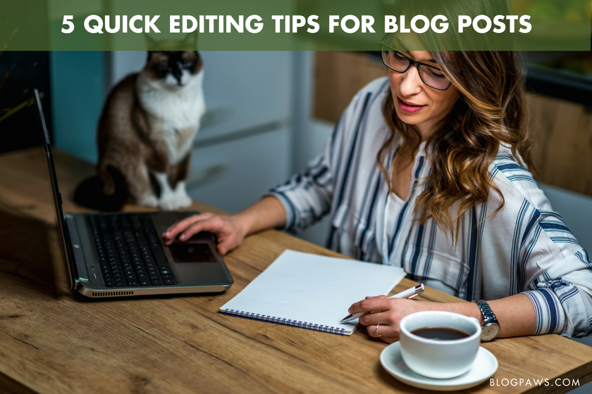 5 Quick Editing Tips for Blog Posts