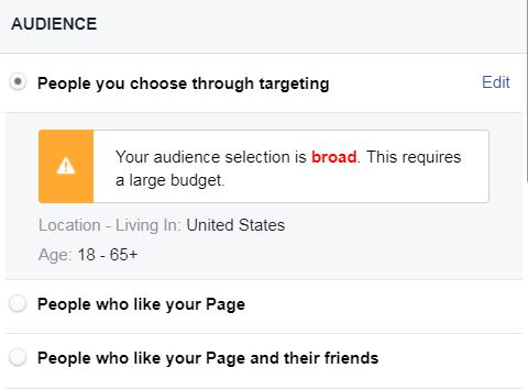 Who Do I want to see my Facebook boost