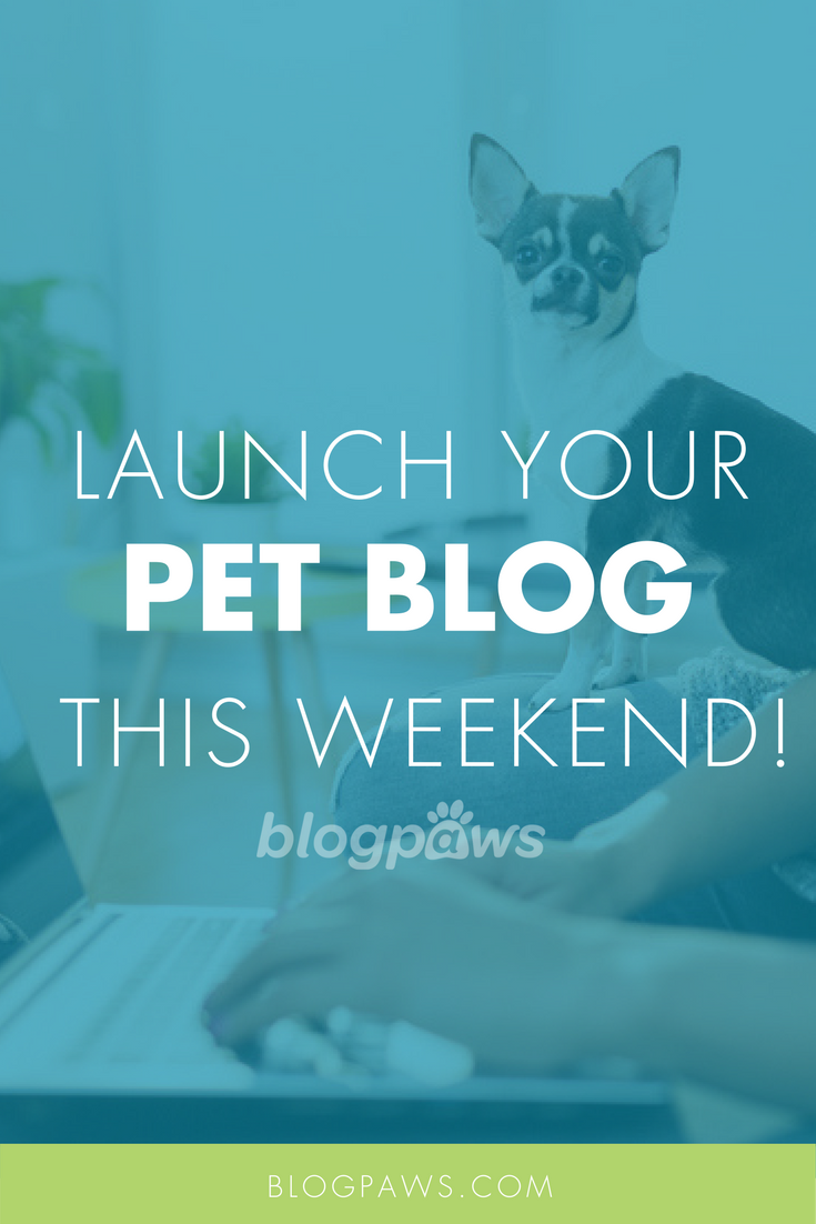 Launch Your Pet Blog This Weekend!