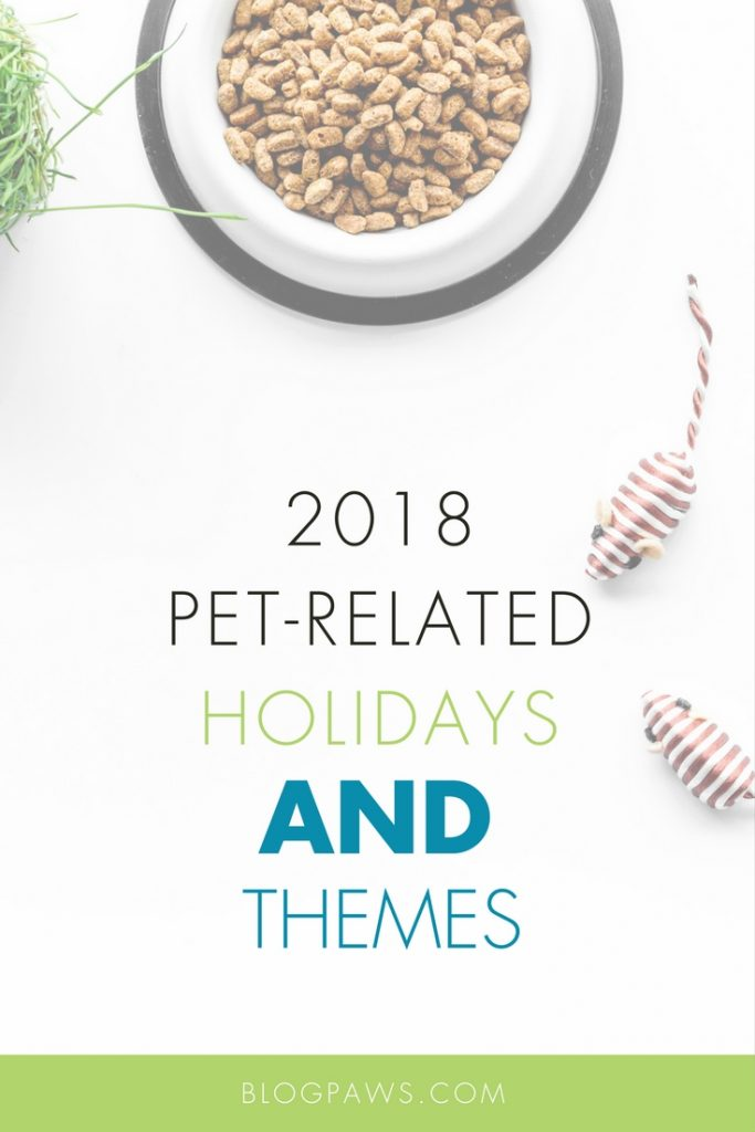 2018 pet related holidays