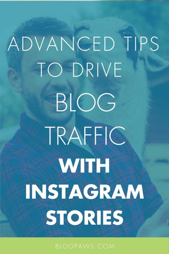 Using Instagram Stories for blog traffic