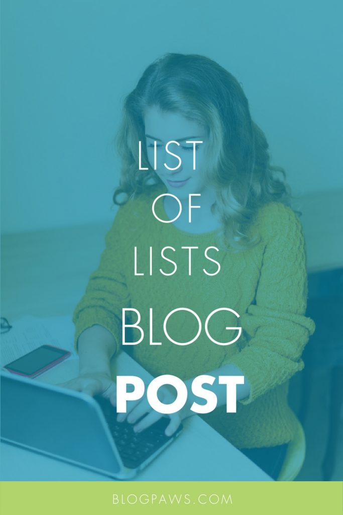 How to do a blog post of lists