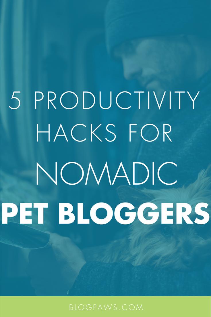 5 Productivity Hacks For Nomadic Pet Bloggers