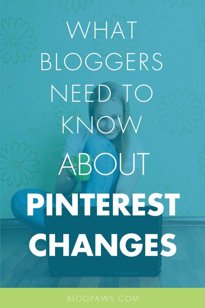 Pinterest changes blogger