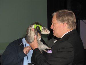 David Frei with ferret