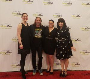 Maggie, Bernard, Aimee, Carol: BlogPaws 2018