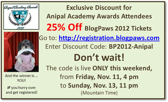 AAAC BlogPaws 2012 Discount