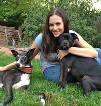 Chloe and pups small