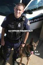 Officer Tom Binkley and K-9 Hugo